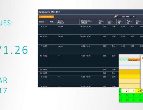 Release V1.26: übersichtlich, nutzerfreundlich und barrierefrei